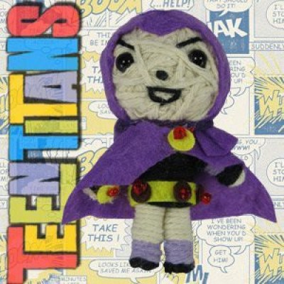 Teen Titans Dolls Dc Comics Raven String Keychain(Multicolor)