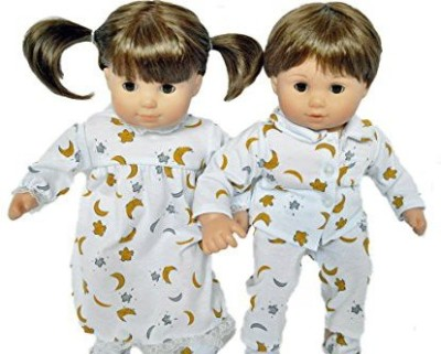 Dolls Hobbies N more MOON AND STAR PAJAMAS AND NIGHTGOWN FOR AMERICAN GIRL DOLLS BITTY TWINS AND BITTY BABY