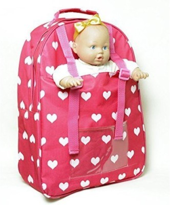 The New York Doll Collection Baby Doll Carrier Backpack - Fits American Girl dolls - Divided Compartments for Storage -View all Pictures - Great Doll Toy Gift For Girls