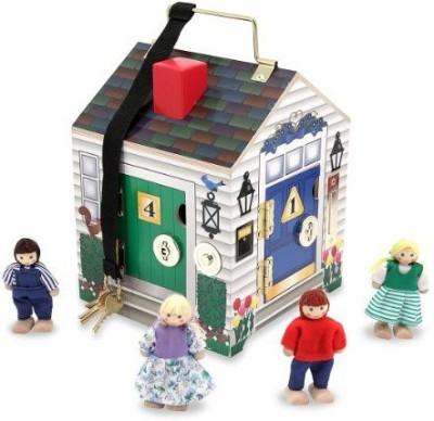Melissa & Doug Deluxe Wooden Doorbell House(Multicolor)