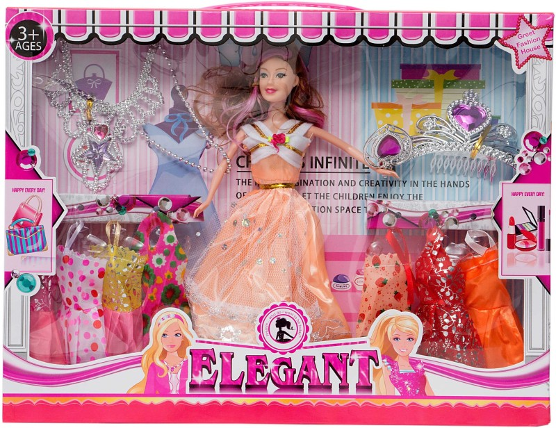 AARYAN ENTERPRISE Party Outfit For 40 Doll(Multicolor)