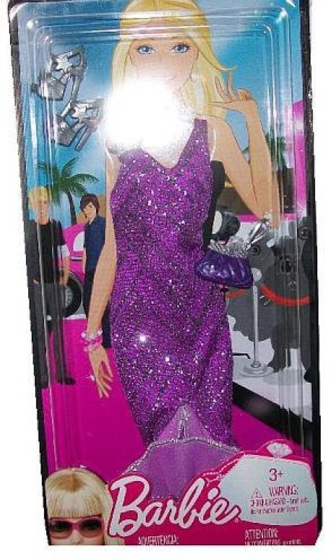 Mattel Party Outfit For 23 - 12 cm Doll(Purple)