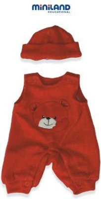 Miniland Red Bib Overall With Hat For 1575,, Ba