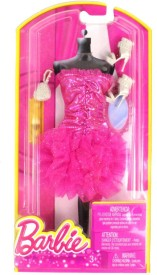 Barbie Party Outfit For 5 - 8 cm Doll(Pink)