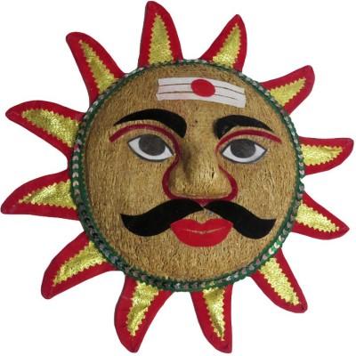 DCS Scented Handicraft Jute Sun Shaped Ravan (33*5*32cm) Door Hanger