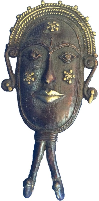 Art Antiqua Dhokra Art Tribal Face Door/Wall Hook Door Hanger
