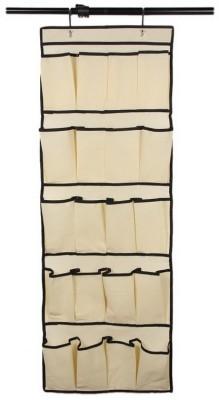 KARP 20 Pocket Space Saver Rack Hanging Storage Over the Door Shoe Organizer-Yellow Door Hanger