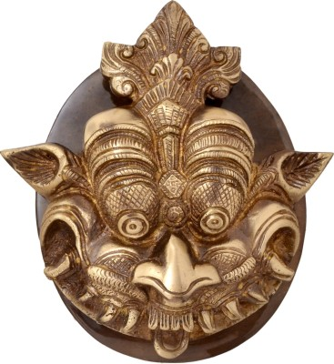 Handecor Dragon Face Plate Base Brass Door Knocker