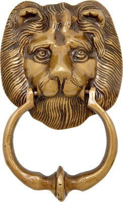 Handecor Lion Face Brass Door Knocker(Antique Brass)