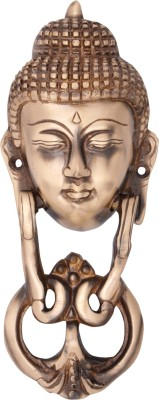 Regalia Buddha Face Brass Door Knocker(Brass)
