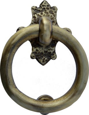 Aakrati Ring Shaped Simple But in Golden Look Brass Door Knocker