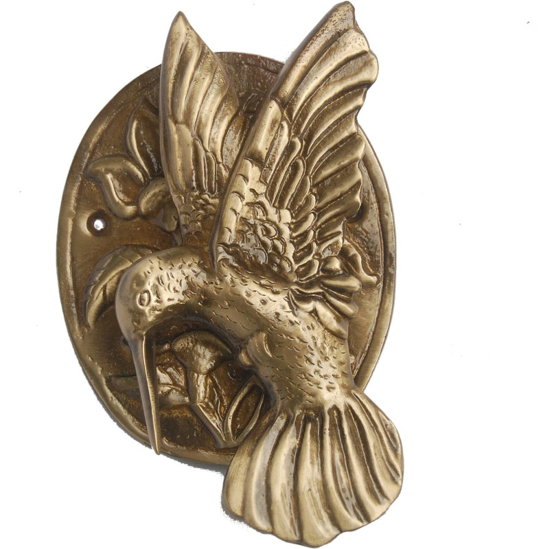 Aakrati Bird Brass Door Knocker(Antique Brass)
