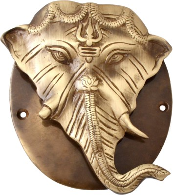 Handecor Ganesh Designer Plate Base Brass Door Knocker