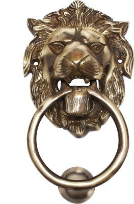 craftcart 150 MM Lion Brass Door Knocker(Antique Brass)