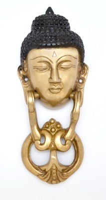 Handecor Buddha Face Brass Door Knocker(Antique Brass)