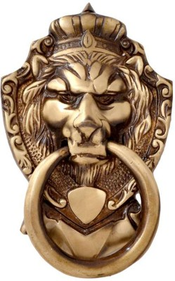 Aakrati Lion Face Brass Door Knocker(Antique Brass)