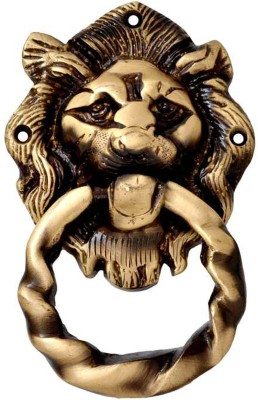 Aakrati Lion Face Brass Door Knocker