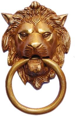 Aakrati Lion Face Brass Door Knocker
