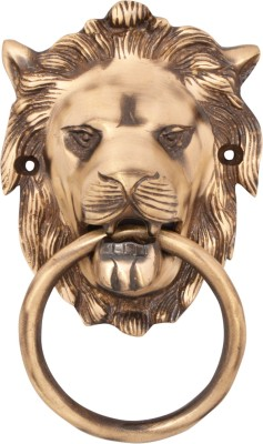 Regalia Lion Face Brass Door Knocker(Antique Brass)