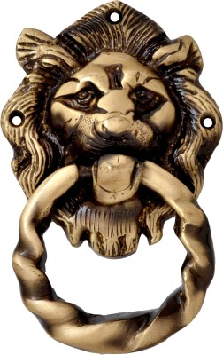 Handecor Lion Mouth Moulded Ring Brass Door Knocker
