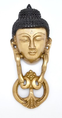 Aakrati Door Knocker of Gautam Buddha By Aakrati Brass Door Knocker(Antique Brass)