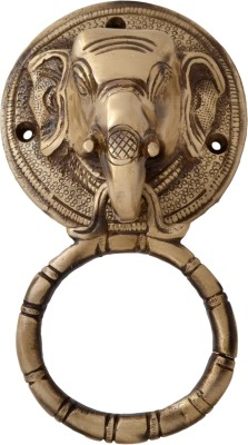 Handecor Elephant Face Brass Door Knocker(Antique Brass)