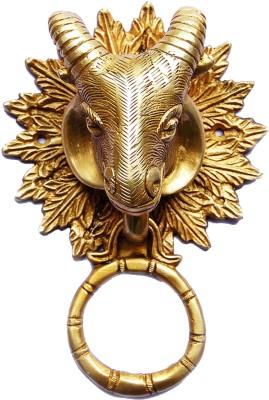 Aakrati Goat Face Brass Door Knocker