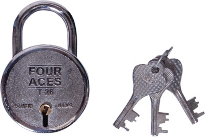 FOUR ACES Steel Chrome door lock