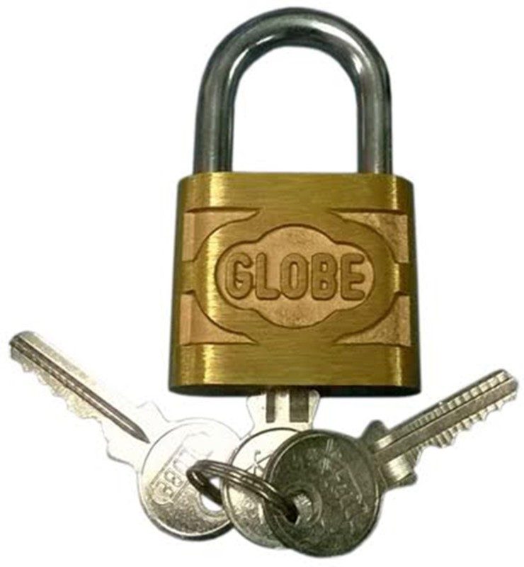 GLOBE Brass Metallic door lock(Gold)