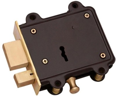 Homeproducts4u Iron, Brass Polished door lock(Brown, Gold)