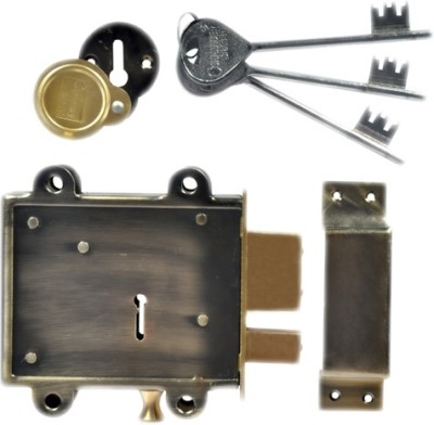 Homeproducts4u Iron, Brass Polished door lock