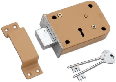Homeproducts4u Iron Polished door lock(Beige, Silver)