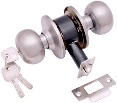 Homeproducts4u Stainless Steel Matte door lock(Steel)