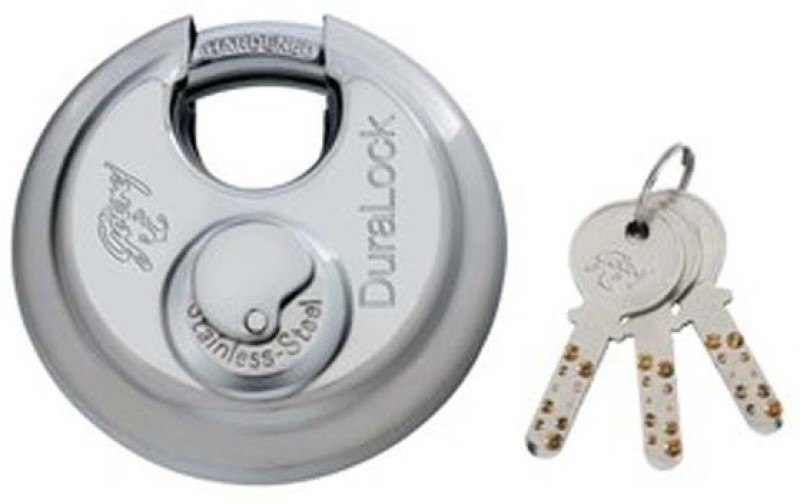 Godrej Stainless Steel Chrome door lock(Silver)