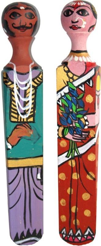 Ganges Art Gallery DST 001 Traditional Floor Mounted Door Stopper(Multicolor)