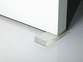 KM Transparent Set of 4 Non-Slip Wedge Door Stopper
