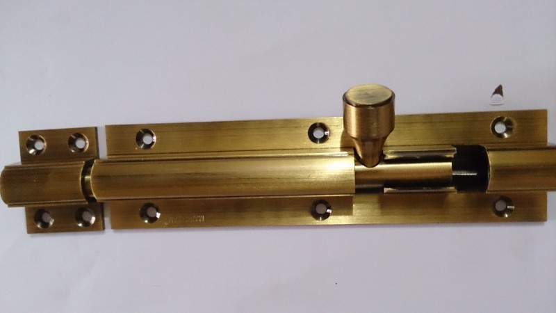 ADVANCE 16mm TOWER BOLT FANCY TOWER BOLT Door Mounted Door Stopper(Gold, Silver)