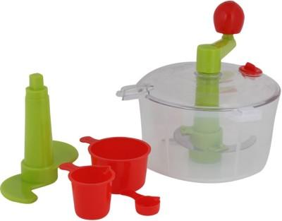 Prro 2 In 1 Dough Maker & Vegetable Chopper Plastic, Stainless Steel Spiral Dough Maker