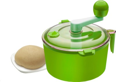 Ritu Cutter + Dough Maker Plastic, Stainless Steel Detachable Dough Maker(Green)