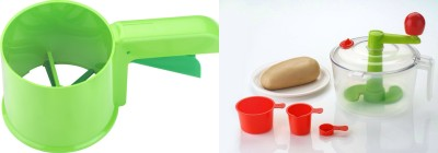Nestwell Kitchen Tools Combo Plastic Detachable Dough Maker(Multicolor)