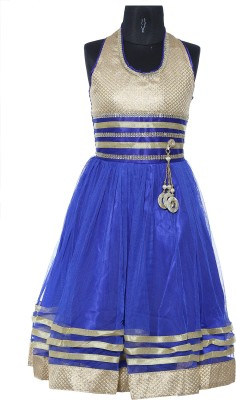 My Lil Princess Girl's Layered Blue Dress