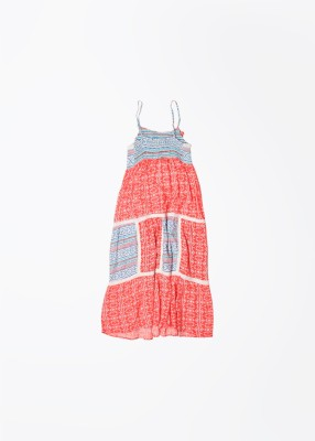 Pepe Jeans Girl's White, Blue, Red Dress
