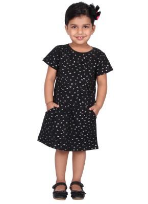 Pepperika Girl's A-line Black Dress