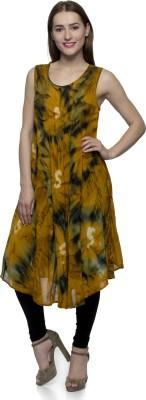 One Femme Women's A-line Yellow Dress
