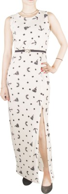 Mitra Creations Women,s Maxi White Dress
