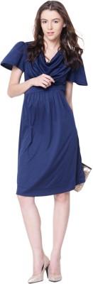 Mamacouture Women's A-line Dark Blue Dress