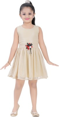 Be 13 Girl's Fit and Flare Beige Dress