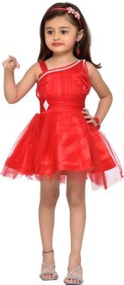 Adiva Baby Girl's Empire Waist Red Dress