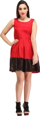 CATION Women's A-line Red Dress