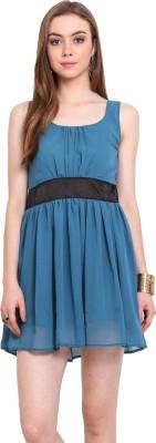 Desi Urban Women's A-line Blue Dress